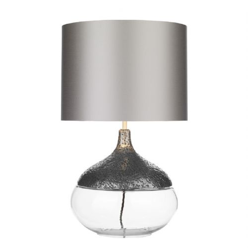 Teardrop Table Lamp Pewter Base Only TEA4367 (7-10 day Delivery)
